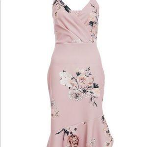 Quiz Pink Floral Dress
